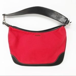 Mondani New York Red Removable Strap Hobo Bag